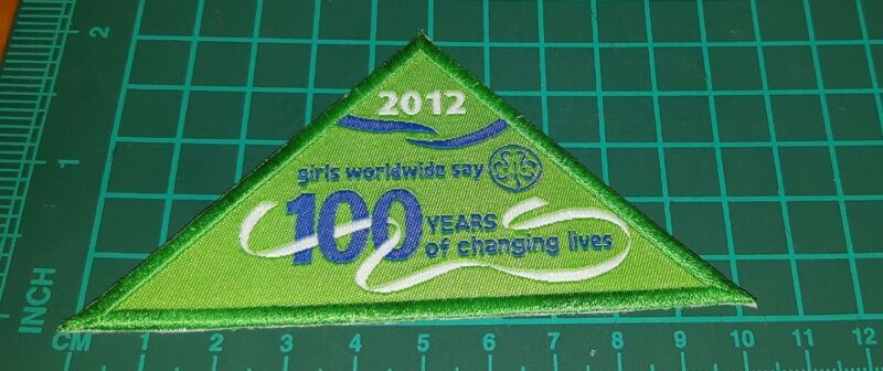 Girl Guides 100 years of changing lives 2012 badge