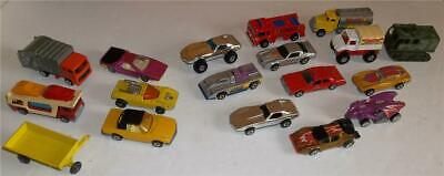 Vintage Hot Wheels and Matchbox Cars Trucks Lot of 18
