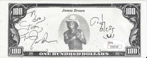 JAMES BROWN Signed Autograph Funny Money Music JSA LOA
