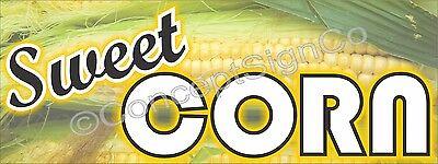 1.5x4 Sweet Corn Banner Outdoor Indoor Sign Farm Fresh Stand Farmers Market