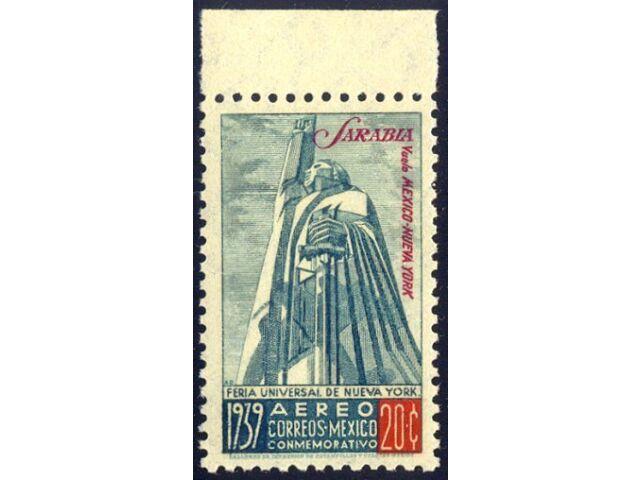 MEXICO #C93A Mint NH - 1939 20c Sarabia