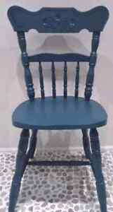Vintage BUTTERFLY Back Chair HARDWOOD Antique