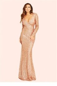 Brand new gold sequin prom/ evening dress size 6/8