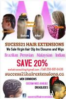 Hair Extension, Weaves, Cornrows, Dreadlock, Fusion and more