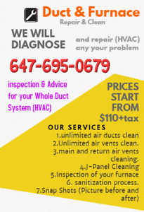 Advice for your Whole Duct System (HVAC)