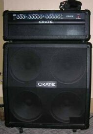 Guitar Amp: Crate GT1200H Half stack !! Mint..