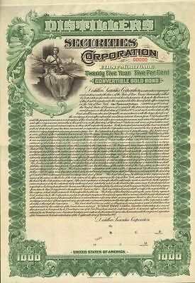 Distillers Securities Corporation    1 000 Gold Bond Certificate Specimen Share