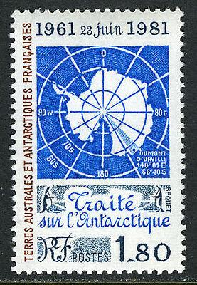 FSAT TAAF 94, MNH. Antarctic Treaty, 20th anniv. Map, Penguins, 1981