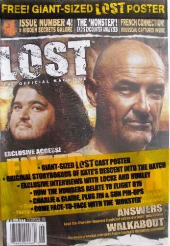 LOST OFFICAL MAGAZINE - LOCKE & JORGE COVER + GIANT LOST POSTER #4A - EXCLUSIVE