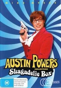 AUSTIN POWERS 1-3 Trilogy Shagadelic =NEW R4 DVD