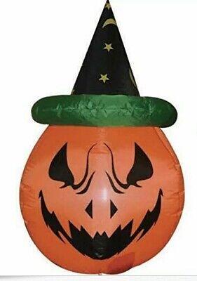 GOOSH 4 Foot Tall Halloween Inflatable Blow Up Pumpkin NIB