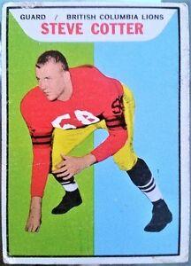 Set of 10 Vintage 1965 CFL Football T.C.G. cards