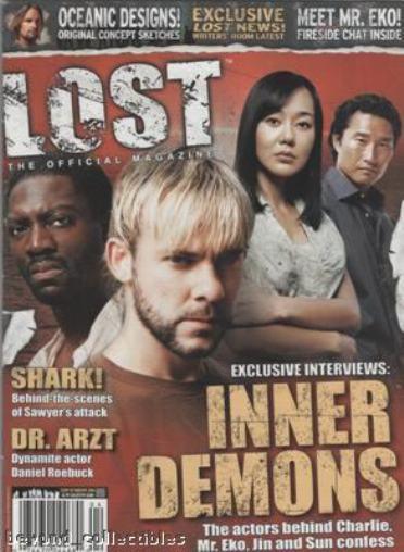 LOST OFFICIAL MAGAZINE - COVER CHARLIE - MR EKO - SUN & JIN #3A - INNER DEMONS