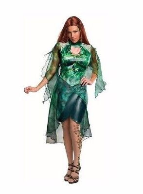 NEW Women's Adult Rubie's Poison Ivy Green Dress Halloween Costume NWT Small Med