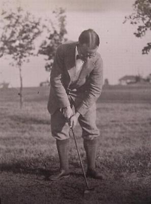 Negative Glass Slide 1920's Funny Long Socks Man Playing Golf Cape Cod Fun Hair (1920s Mens Socks)