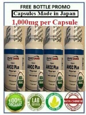- 4 Bottles - Organic Active Hexose Correlated Compound AHCC
