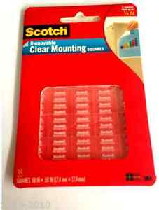 3m Scotch 859 Removable Clear Mounting Squares Double