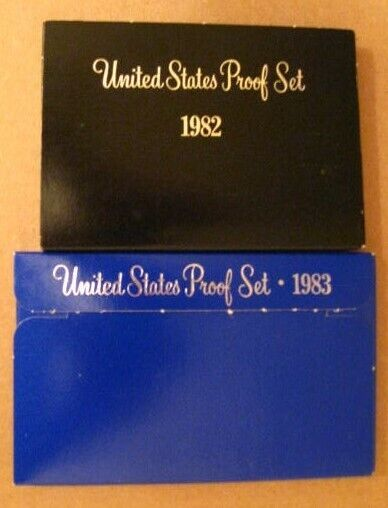 1982  & 1983 Proof US Mint Coin Sets - 10 Coins