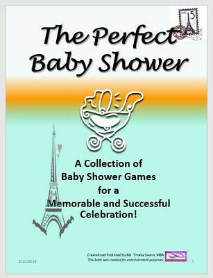 A Paris Themed Baby Shower Game Printable Packet - 26 Games Old and New - Paris Theme Baby Shower