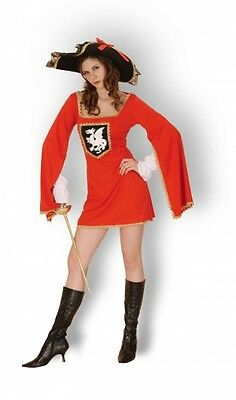 LADIES/ GIRLS ADULT MUSKETEERS CAVALIER FANCY DRESS COSTUME