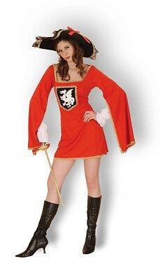 LADIES/ GIRLS ADULT MUSKETEERS CAVALIER FANCY DRESS COSTUME