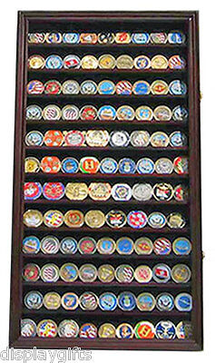 Military Challenge Coin Casino Poker Chip Display Case Wall Cabinet  Coin2 Ma