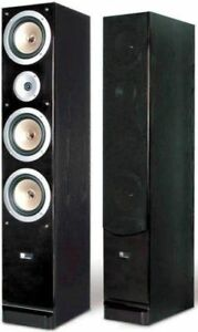 Pure Acoustics towers, center channel and Samsung rear speakers