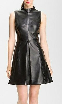 Spring Designer Lamb New Leather Women Dress Cocktail Stylish Party Wear  - Wear Spring