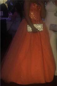 Stunning orange prom dress paid £580 from celebration village in manchester