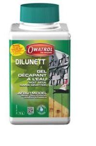 decapant gel peinture lasure vernis tous supports 1 l dilunett owatrol ebay. Black Bedroom Furniture Sets. Home Design Ideas