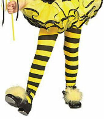 Yellow & Black Bumble Bee Girls Tights for Halloween Costume Toddler 67168