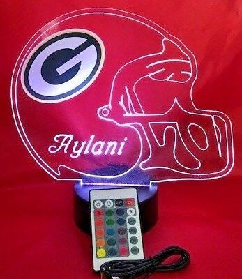 Green Bay Packers NFL Football Light Up Light Lamp LED With Remote Personalized ](Light Up Footballs)