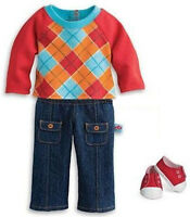 New in Box American Girl Argyle Outfit + Charm for Dolls