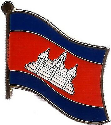 LOT OF 12 Cambodian Flag Lapel Pins - Cambodia Flag Pin