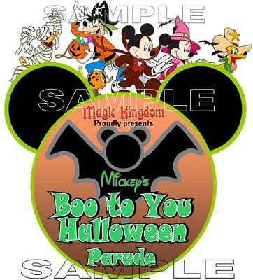 Disney Mickey's Not So Scary Halloween Party Boo To You Parade Scrapbook Piece](Boo To You Halloween Parade)