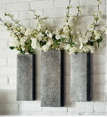 Wall Sconces Magnolia Home by Joanna Gaines Hanging Metal Planters Set of 3 (Metal Magnolia Wall)