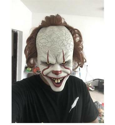 Halloween Scary Stephen King's IT Movie Mask Costume Cosplay Full Face Man Mask (Halloween Scary Movies)