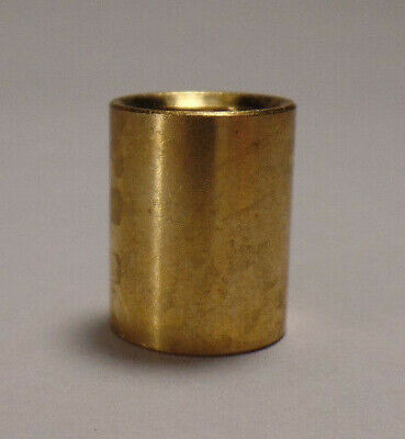 """New Brass Lamp Pipe Coupling, Unfinished Brass, 9/16"""" ht., 1/8F (3/8"""") #BC936U"""