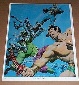 80s-Hulk-Submariner-14-x-11-Marvel-Comics-Tales-to-Astonish-poster-Sub-mariner