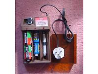 Battery charger for types C, D, AA, AAA and PP3-the popular 9 volt.