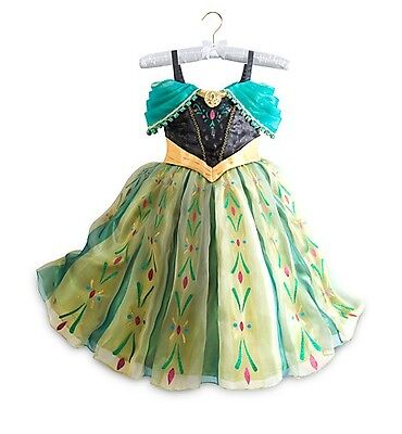 Disney Store DELUXE Frozen princess ANNA corronation gown costume dress play NWT](Frozen Anna Deluxe Costume)