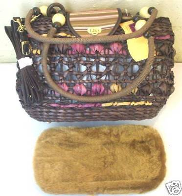 Small Dog & Cat Basket Tote Hand Bag Pet Carrier