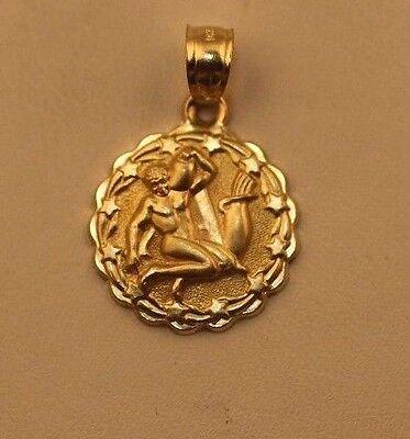 Zodiac Necklace 10 K Gold  Horoscope Pendent