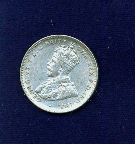 AUSTRALIA  KING GEORGE V  1916-M  1 SHILLING SILVER COIN,  XF+