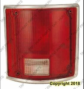 Tail Light Passenger Side Chrome Trim Fleetside High Quality Chevrolet Pickup 1973-1990