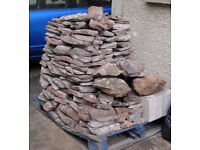 Local stone suitable for stone walls