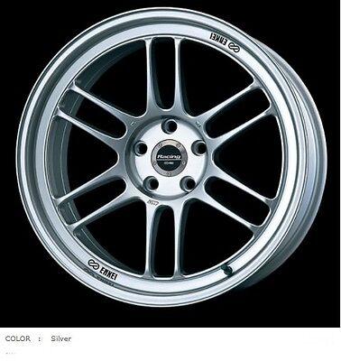 ENKEI Racing RPF1 wheels 7.5J-18 +48 5x100 Silver set of 4 rims from JAPAN