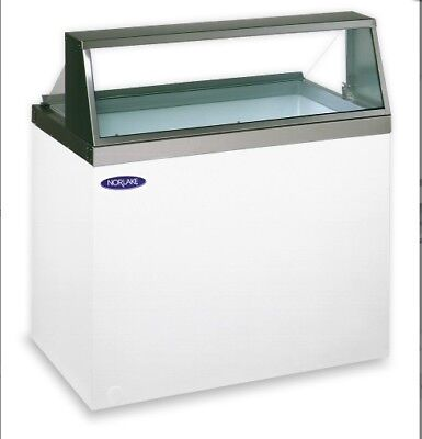 Norlake Standex Ice Cream Dipping Low Glass Display Merchandiser Model Hf100-