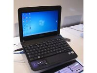 SAMSUNG NB30 LAPTOP WIN 7 PRO INTEL ATOM @1.66GHZ WEBCAM WIFI READY