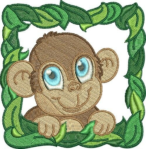 Baby animal blocks machine embroidery designs